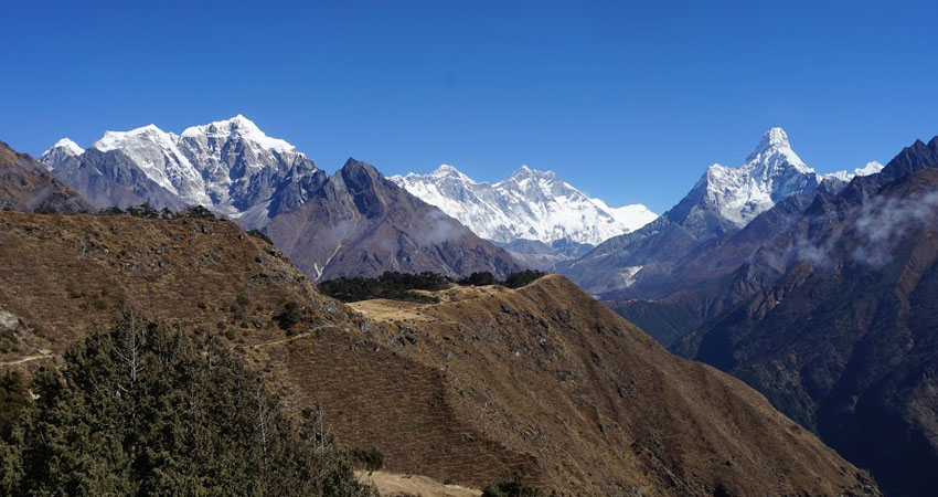 Everest panorama from the everest view hotel syangboche