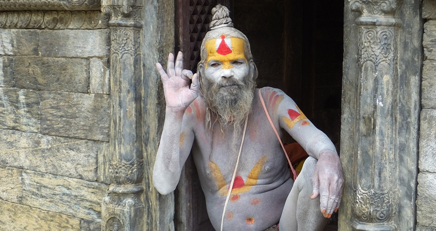 Shadhu in Pashupatinath temple
