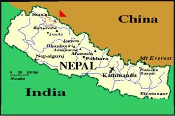 nepal-map - Remarkable Adventure Trek