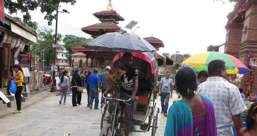 Rickshaw Tour in Kathmandu
