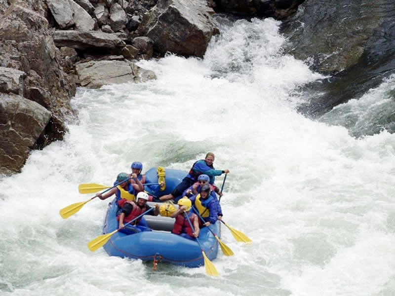 White water rafting in trishuli river.